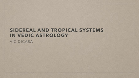 Tropical Vedic Astrology